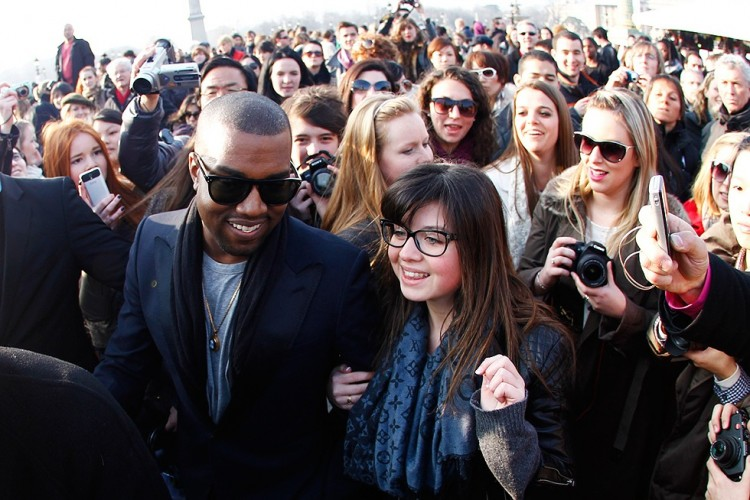 Kanye West visiting Paris last March.