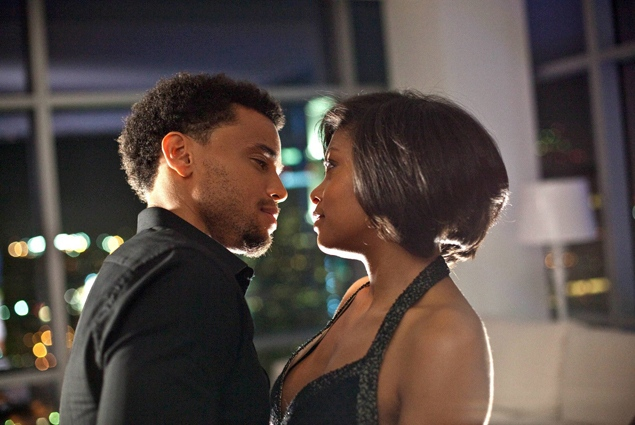 "Michael Ealy, left, and Taraji P. Henson in ""Think Like a Man."""
